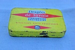 ancienne boîte DRAGEES de SAVOIE Labo Sauba. médicament, pharmacie