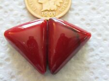2 Bloody Basin Jasper Cab 24 carat hand cut red black matrix cabochon block