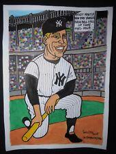 Original Cuban Drawing MICKEY MANTLE Baseball Hall of Fame NEW YORK YANKEES Cuba