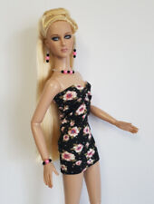 """Sexy DRESS AND JEWELRY SET for Tonner 16"""" Tyler Brenda etc Fashion NO DOLL d4e"""