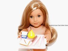 School Lunch Tray Sandwich,Pear,Chocky Stick, Milk 18 American Girl Doll Food #P