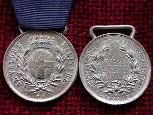 Replica Copy  WW1 Italian Al Valore Medal in Silver aged full size