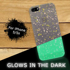 Glow in the dark - For iPhone 5 / 5s Hard Case Cover - Dots Spots Glows
