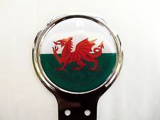 Wales (Welsh) Badge Bar Badge , Chrome Plate With Gel Insert 92 x 108mm 1497