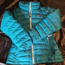 Patagonia Girls Puffer Goosedown Jacket Size M (10) RN: 51884 Teal