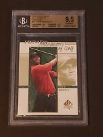 Tiger Woods 2001 Upper Deck SP Authentic BGS 9.5 Preview Rookie RC