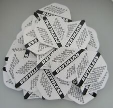 """Bulk Pack of 30 Ruthless Extra Strong Dart Flights """"white checkout"""""""