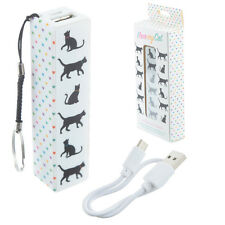 Portable power bank USB mobile Phone Backup Battery charger  keyring  cat design