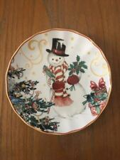 Williams Sonoma Twas The Night Before Christmas Snowman Salad Plates Set/4 NEW