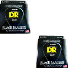 DR Guitar Strings 7-String Electric 2-Pack K3 Black Beauties Coated 11-60