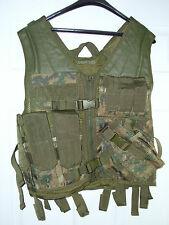 Heavy Duty Military Assault Cross Draw MOLLE Tactical Vest MARPAT Marine Camo