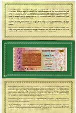 Bangladesh 100 Taka-Commemorative Banknotes-2013-P# 63-Uncirculated-With Folder