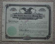 The North American Mining Company share certificate