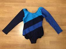 Girls Navy LONG SLEEVE LEOTARD Dance Gymnastics Ballet Size 1B (122-128cm)