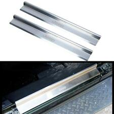 2X Stainless Steel Door Sill Scuff Plates For Jeep Wrangler JK 2 Door 2007-2015