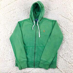 Polo by Ralph Lauren Hoodie Sweatshirt Jacket Men's Size Medium Full Zip Cotton