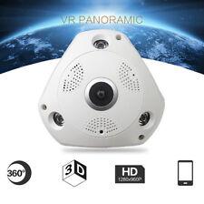 360° Panoramic Wireless 3D Home Security Sicherheit IP Kamera Audio Video WiFi