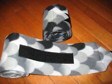 New set of 2 black/grey mermaid/scales horse polo wraps (horse/pony leg wraps)