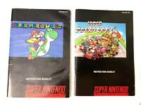 Super Mario World Mario Kart SNES Super Nintendo Instruction MANUAL ONLY No Game