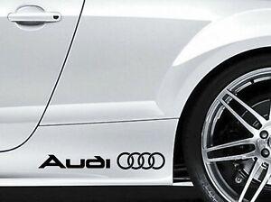 2x Audi Schriftzug Autoaufkleber Tuning Shocker Sticker JDM TT RS S A3 A4 A5 A6