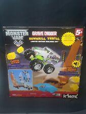 NEW K'NEX Monster Jam Downhill Destruction Silver Grave Digger Building Set NIB