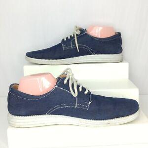 Faranzi Blue Jean Denim Canvas Oxford Mens 13 Boat Shoes Lace Up Sneaker
