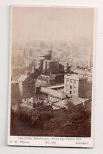 Vintage CDV Old Town Edinburgh Scotland from Calton Hill G.W. Wilson Ph Aberdeen