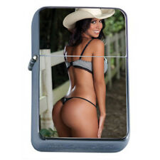 Pin Up Cowgirls D16 Flip Top Dual Torch Lighter Wind Resistant