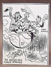 c. 1930 SEATTLE INDIANS BASEBALL PCL original art Stuart Pratt SEATTLE TIMES