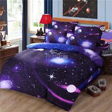 3D Galaxy Duvet Quilt Doona Cover Set Single/Queen/King Size Bed Pillow Case Set