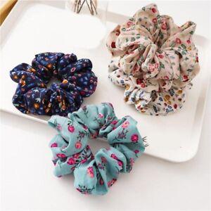 1Pcs Elastic Hair Tie Floral Scrunchie Hair Ring Ponytail Holder Rubber Bands