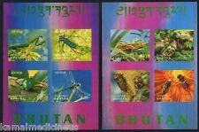3 D Odd, Insects, Honey Bee, Bhutan 1969 MNH 2 SS