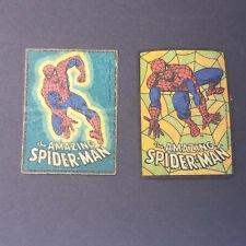 Pair Vintage Marvel Spiderman Comic Iron On Patches 1979 Amazing Spider-man