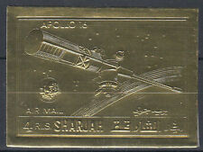 Sharjah 1972 ** mi.1058 B oro foil Apollo 16 espacio Space