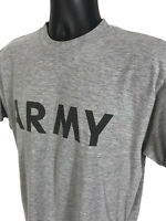 ARMY Gray Crew Neck Athletic PT T Shirt TEE Mens M Medium Short Sleeve Fitness