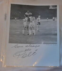 Pele Autograph signed Soccer Photo genuine