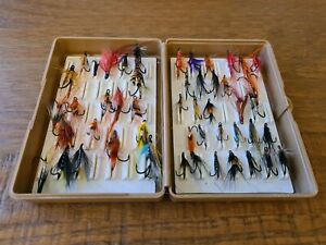 50 Fly Fishing Trout and Salmon Flies Including Box