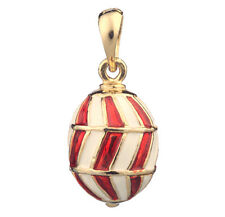Faberge Egg Pendant / Charm 2.3 cm red #0984-05