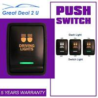 12V 3A ON/OFF For Nissan Pathfinder Navara Push Switch DRIVING LIGHTS Dual LED