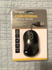 Targus Cord-Storing Optical Mouse - AMU76US