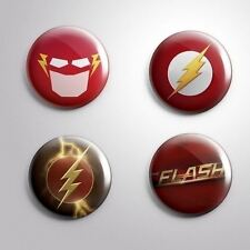 4 FLASH -  Pinbacks Badge Button 25mm 1''..