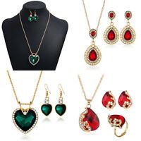 Fashion Crystal Choker Chunky Statement Bib Pendant Women Necklace Chain Jewelry
