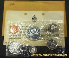 1966 UNCIRCULATED PROOF LIKE SET - CANADIAN 6-COIN SET - ENVELOPE & CERTIFICATE