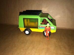 Vintage Fisher Price Adventure People Daredevil Sport Van (Poor Condition) + Fig