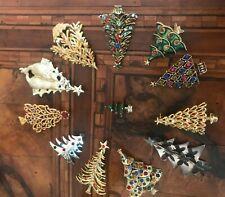 Rare! Vintage Christmas Tree Brooch To Choose Spilla Albero di Natale A Scelta