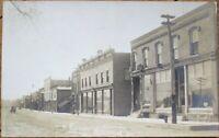 Elroy, WI 1910 AZO Realphoto Postcard: Main Street - Wisconsin Wis