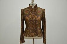 Ralph Lauren Black Label Made in USA Rayon Silk Wool Blend Paisley Jacket 8