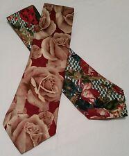Vintage Ties | Classic Floral Designs | Perry Ellis & Private Label | 2 Ties