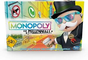 Monopoly for Millennials Board Game New Hasbro Gaming