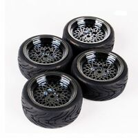 4PCS 12mm Hex On-Road Tires&Wheel Rim For HSP HPI RC 1/10 Model Racing Car